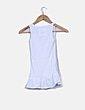 Camiseta blanca canalé con voltante Banana Moon