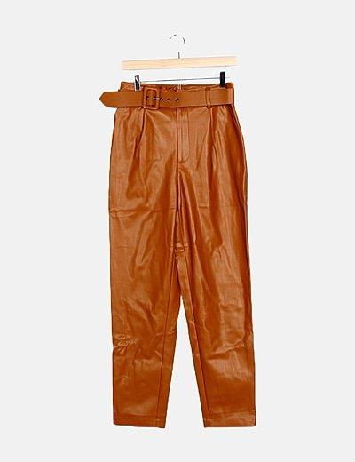 Pantalón color caldera encerado