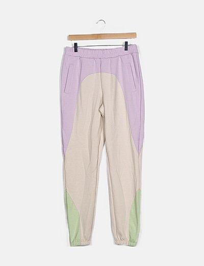 Pantalón deportivo tricolor