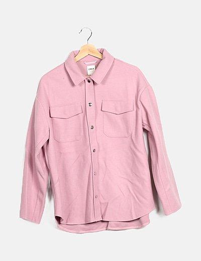 Sobrecamisa de paño rosa