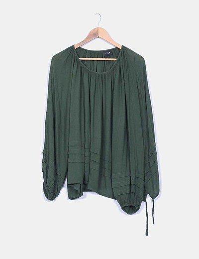Blusón oversize verde musgo