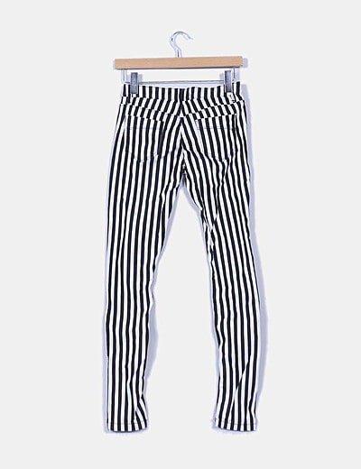 Bershka Pantalon Pitillo Rayas Blancas Y Negras Descuento 78 Micolet