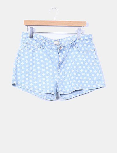 Short denim con lunares