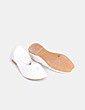 Bailarina blanca con pedrería con cierre en tobillo NoName