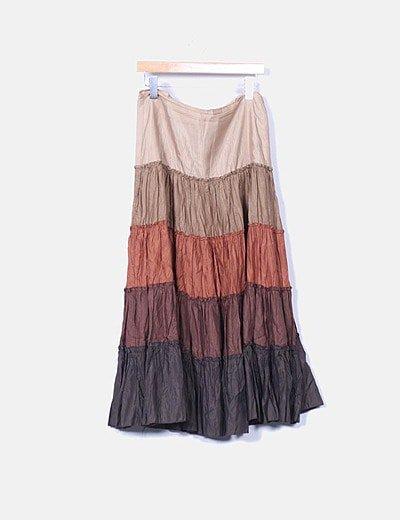 Falda larga con degradado de color
