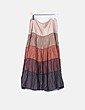 Falda larga con degradado de color  Cortefiel