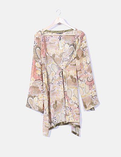 Kimono gasa estampado