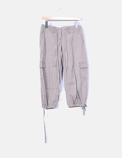 Pantalón baggy taupé