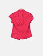 Camisa roja manga corta Stradivarius