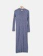 Maxi vestido tricot gris Promod