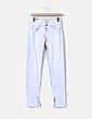 Jeans denim pitillo gris Bershka
