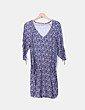 Vestido azul marino estampado con bolsillos Southern Cotton