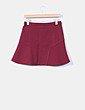 Mini falda burdeos con vuelo Easy Wear