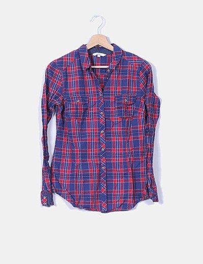Camisa cuadros rojos y azules