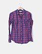 Camisa cuadros rojos y azules C&A
