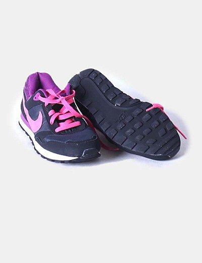 zapatillas nike negras y rosas