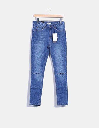 Jeans pitillo tiro alto