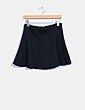 Falda mini negra texturizada Easy Wear