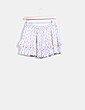 Mini falda volantes beige estampado Suiteblanco