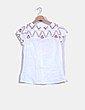 Blusa blanca escote bordado Celop Woman