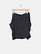 Falda negra con tachas plateadas Pedro del Hierro