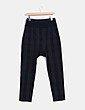 Pantalón baggy gris marengo y negro Topshop