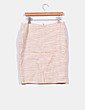 Conjunto de blazer y falda  en tweed beige con brillos  Pedro del Hierro