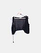 Chaleco negro crochet Promod