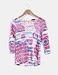 Camiseta multicolor con encaje Vie Nocturne