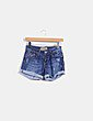 Shorts denim con dobladillo Stradivarius