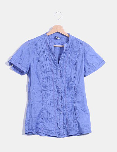 Camisa malva entallada
