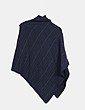 Poncho corte asimétrico negro  Easy Wear
