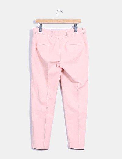 Zara Pantalon Rosa Palo De Vestir Descuento 70 Micolet