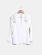 Blusa color crudo manga larga con volantes H&M