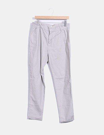 Pantalón beige ancho