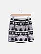 Falda midi texturizada con estampado étnico Topshop