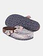 Zapato plano destalonado estampado animal print Oysho