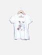 Camiseta blanca print mensaje NoName