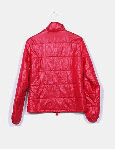 Chaqueta acolchada roja