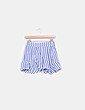 Conjunto crop top y shorts rayas NoName