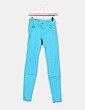 Jeans denim pitillo azul turquesa Pull&Bear