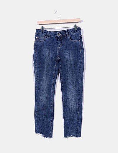 Jeans denim desflecado