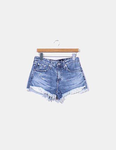 Shorts denim desflecados