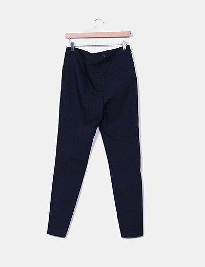 Zara Pantalones Chinos Azul Marino Descuento 72 Micolet