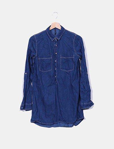 Camisola denim azul