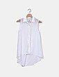 Blusa blanca semitransparente Stradivarius