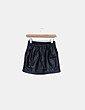 Mini falda polipiel negra Lefties