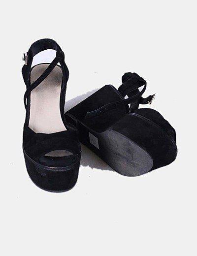 Sandalias con plataforma negras