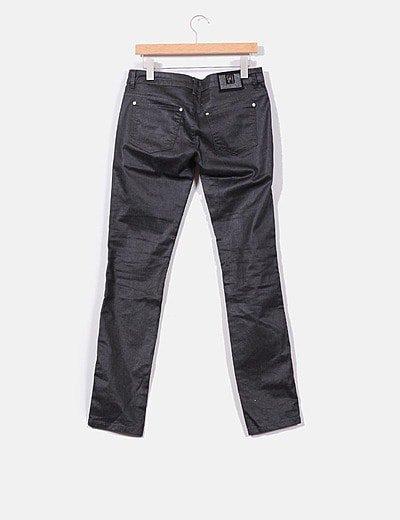 Guess Pantalon Guess Gris Oscuro Encerado Descuento 77 Micolet