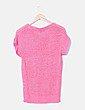 Jersey tricot rosa manga corta Coming up